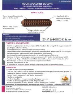 Produit Tupperware: Moule à gaufres silicone