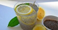 Chia water with lemon eliminates accumulated fat and irritates .- Chia Wasser mit Zitrone beseitigt angesammeltes Fett und reinigt den Körper in … Chia Water with Lemon eliminates accumulated fat and cleanses the body in just three days Detox Drinks, Healthy Drinks, Healthy Recipes, Healthy Food, Healthy Weight, Tea Drinks, Delicious Recipes, Beverage, Weight Loss Drinks