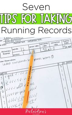7 Tips for Success with Running Records to Help Readers - Mrs. Guided Reading Organization, Guided Reading Activities, Guided Reading Lessons, Guided Reading Groups, Reading Resources, Kindergarten Reading, Reading Strategies, Teaching Reading, Teacher Resources