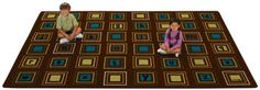 Natures Colors Literacy Squares Classroom Rug $145.95