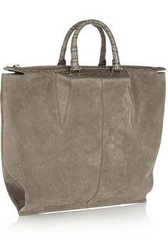 Alexander Wang | Suede and croc-effect leather shopper