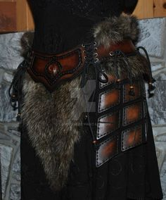 leather armor belt assy by Lagueuse on DeviantArt