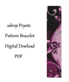 2drop Peyote Pattern Bracelet  .  Instant Download. от HoneyPear, $3.00