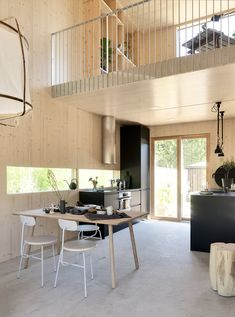 Kotola 91 Scandinavian Raw Interior Design In Finland Modern New Living Room, Small Living, Home And Living, Ikea Interior, Interior Design Living Room, Small Entryways, Hall Design, House In The Woods, Dining Area