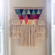 Weaving woven wall hanging tapestry by Maryanne Moodie Weaving Wall Hanging, Weaving Art, Tapestry Weaving, Loom Weaving, Tapestry Wall Hanging, Hand Weaving, Wall Hangings, Art Fil, Art Textile