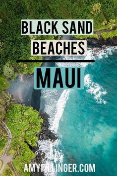 Are you looking for Maui black sand beaches? Check out this list of the best black sand beaches in Maui and more black sand beaches in Hawaii. From stops on the road to Hana to snorkeling beaches on Maui, you'll find more Maui black sand beaches than you knew existed! #maui #mauivacation #blacksandbeach #mauiblacksandbeach #hawaiitraveltips #mauitravel Hawaii Travel Deals, Hawaii Vacation, Beach Trip, Vacation Ideas, Best Beaches In Maui, Beaches In The World, Maui Black Sand Beach, Maui Resorts, Hawaii Honeymoon