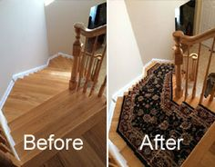 Nice Before And After Staircase From Worldwide Wholesale Floor Coverings