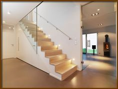 Treppenbau Bastian Treppenbau Bastian The post Treppenbau Bastian appeared first on Flur ideen. Stairs And Doors, Open Stairs, House Stairs, Bungalow Renovation, Stair Lighting, Interior Stairs, Stair Railing, Staircase Design, Stairways