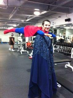 Creative-halloween-costumes - cool twist on the Superman costume. :)