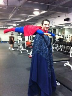 Creative-halloween-costumes - cool twist on the Superman costume. :)