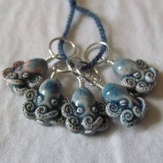 Don't ask me why I love these.  Because I don't know.  But I really do.  Octopus Stitch Markers