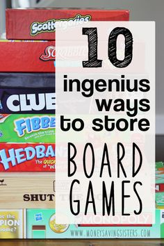 Never step on a game piece again! Ouch! Follow the advice of these 10 ways to store board games and not only will you have them all in one place, but you won't lose pieces either!