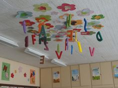 őszi dekoráció tanterembe - Google keresés Classroom Ceiling Decorations, Preschool Classroom Decor, Sunday School Classroom, Classroom Decor Themes, School Decorations, Art Classroom, Preschool Crafts, Board Decoration, Class Decoration