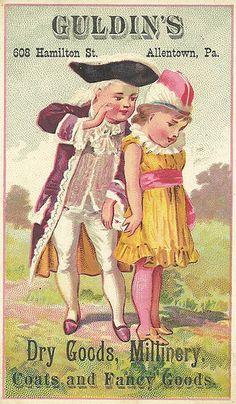Vintage Victorian Ephemera Guldins Dry Goods and Millinery Advertising