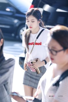 result for blackpink rose airport fashion Korean Airport Fashion, Korean Fashion Kpop, Korean Fashion Summer, Korean Fashion Casual, Asian Fashion, Blackpink Fashion, Fashion Looks, Petite Fashion, Curvy Fashion