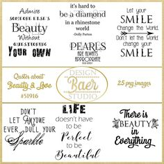Beauty Quotes, Pineapple Quote, Love Quotes, Printable Quotes, Quotes about Beauty,Photo Overlays, Digi Stamps, Junk Journals, Art Journals and Smash books
