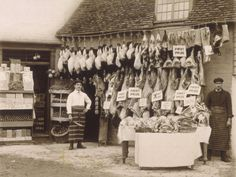 Fine Display of Meat Displayed Outside a Butcher's Shop Photographic Print at AllPosters.com