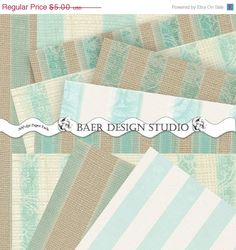 My instant download Tiffany, Ivory, Tan Burlap and Striped Lace Digital Paper Collection is perfect for scrapbooking, cards, journals, party