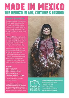 Made in Mexico: The Rebozo in Art, Culture and Fashion @ London 06.2014