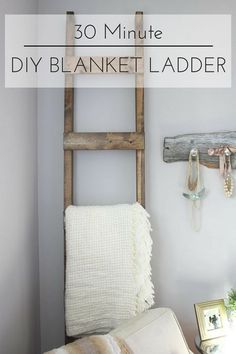 One of our fab contributors, Kristi, is showing you how to make this 30 Minute DIY Blanket Ladder!