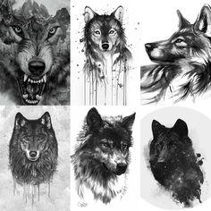 The first picture is the fierce face I want on the wolf! Shaking the teeth ¡La primera foto es la cara feroz que quiero en el lobo! Cute Animal Drawings, Cute Drawings, Wolf Tattoo Design, Tattoo Designs, Wolf Paw Tattoos, Wolf Tattoo Sleeve, Wolf Sketch, Wolf Artwork, Forest Tattoos