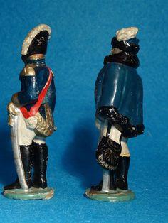 Cellose: 2 Persönlichkeiten Berthier u. Murat 8cm Größe zu Lineol u. Elastolin | eBay