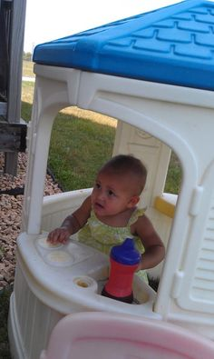 Eve playing outside!