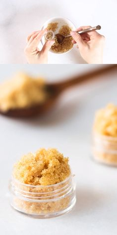 Sugar lip scrub is the best remedy for chapped lips. Learn how to make coconut o. - Sugar lip scrub is the best remedy for chapped lips. Learn how to make coconut oil lip scrub, honey - Lip Scrub Homemade, Diy Scrub, Natural Face Wash, Natural Lips, Foot Detox Soak, Sugar Scrub Recipe, Essential Oils For Skin, Tips Belleza, Beauty Recipe