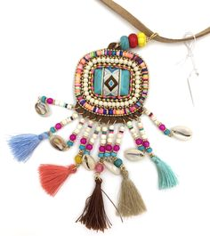 2017 new leather bohemia necklace jewelry thread tassel Summer Boho necklace fringe pendants Necklaces