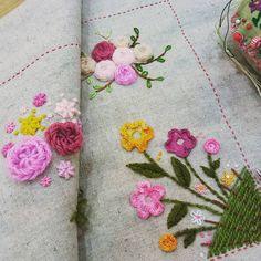 #Embroidery#stitch#stump work#needwork #프랑스자수#일산프랑스자수#자수#자수타그램#입체자수 #화사하다~ E.j 님의 입체자수~