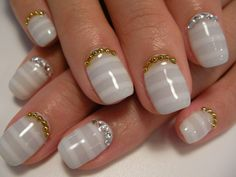 Nails; really like this one but I would leave out the gold and only use silver....
