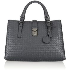 Bottega Veneta Roma intrecciato leather tote ($3,400) found on Polyvore