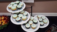 Baby Boy Feet Baby Shower Cupcakes by Kat