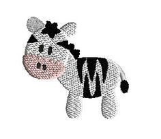 Mini Zebra - 3 Sizes! | What's New | Machine Embroidery Designs | SWAKembroidery.com Sew Cha Cha