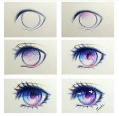 Manga Drawing Credit [ ~ I do not own this tutorial, all credit to the rightful owner (Dm/comment if you know the owner Drawing Tips, Drawing Sketches, Drawing Art, Manga Drawing, Figure Drawing, Art Tutorials, Drawing Tutorials, Eye Sketch, Poses References