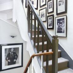 Flur Diele Wohnideen Möbel Dekoration Decoration Living Idea Interiors home corridor - Retro monochrome Flur