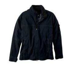 The Bronson Jacket is cut from a heavy organic cotton canvas and filled with high loft insulation. Features include a quilted taffeta lining, adjustable cuff tabs, and interior zip passport pocket with media port. Denim Button Up, Button Up Shirts, Loft Insulation, Organic Cotton, Jackets, Tops, Products, Fashion, Down Jackets