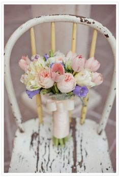 flowers.quenalbertini: A bouquet on a chair | Things I love