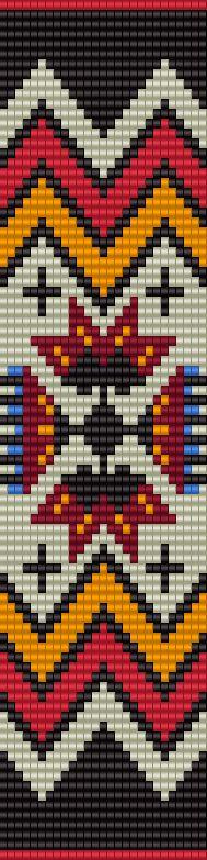 Native inspired loom pattern - BeadscapesbyEstra