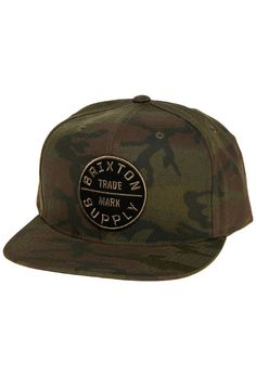 Brixton The Oath III Snapback Hat in Camo