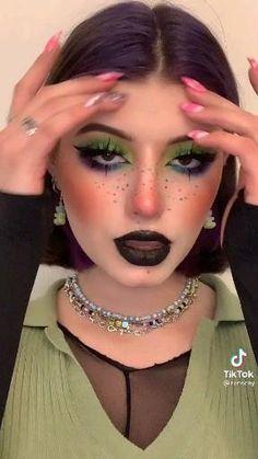 Pastel Goth Makeup, Punk Makeup, Dope Makeup, Cool Makeup Looks, Anime Makeup, Kawaii Makeup, Edgy Makeup, Grunge Makeup, Clown Makeup
