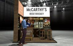 x Modular Exhibition Stand – 2 Slat Wall, Exhibition Stands, Irish Whiskey, Stand Design, Booth Design