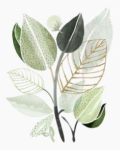 Watercolor Flowers, Watercolor Paintings, Watercolour, Green Watercolor, Modern Tropical, Tropical Art, Tropical Posters, Tropical Prints, Tropical Forest