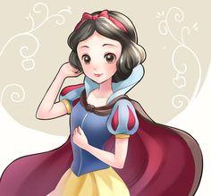 disney y Disney Princess Snow White, Disney Princess Art, Disney Princess Pictures, Disney Fan Art, Kawaii Disney, Cute Disney, Disney Girls, Snow White Art, Snow White 7 Dwarfs