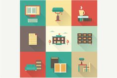 Check out Vector library icons by vectorprro on Creative Market