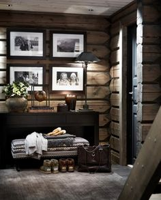 Top 60 Best Log Cabin Interior Design Ideas - Mountain Retreat Homes Cabin Interior Design, Scandinavian Interior Design, Bathroom Interior Design, Kitchen Interior, House Design, Scandinavian Benches, Scandinavian Kitchen, Cabin Interiors, Wood Interiors