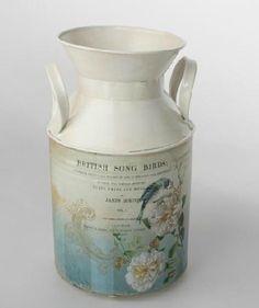 Jarrón o lechera decoración vintage