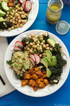 Vegan Power Salad Bowl | Filled with great for you ingredients | MarlaMeridith.com