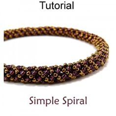 Simple Spiral Russian Spiral Stitch Digital PDF Beading  Pattern Tutorial - Price $5.95