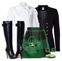 Black and Green by terry-tlc on Polyvore featuring Mode, Alexander McQueen, Vero Moda, Sea, New York, MICHAEL Michael Kors, Kate Spade and ADORNIA